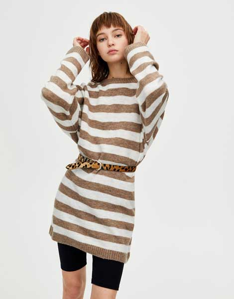 Sweater Wanita Terbaru - Oversized Striped Sweater