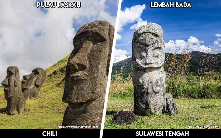 Tempat Wisata Di Indonesia Yang Mirip - Pulau Paskah dan Lembah Bada