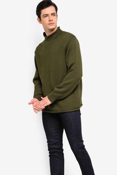 Sweater keren pria - Rollneck Sweater