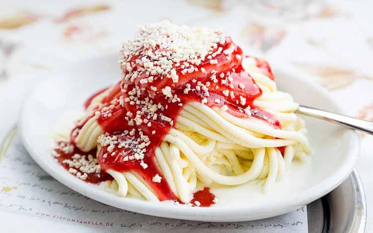 Es Krim Yang Unik Dan Enak Di Dunia - Spaghettieis