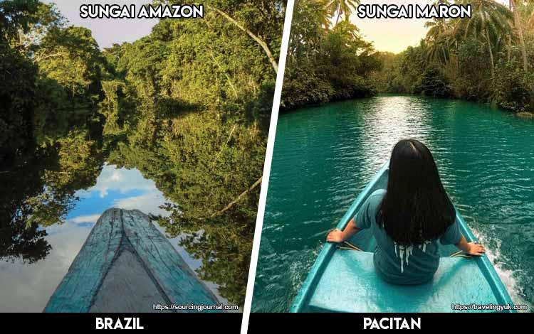 Tempat Wisata Di Indonesia Yang Mirip - Sungai Amazon dan Sungai Maron