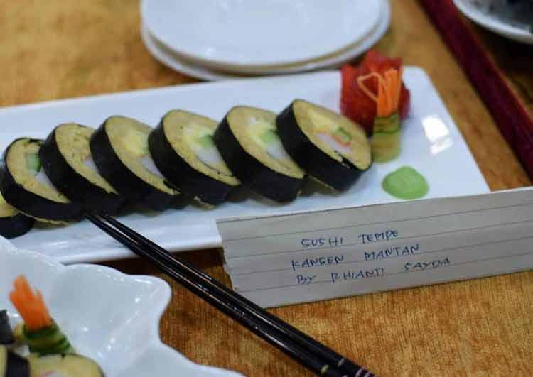 Makanan Enak Ini Terbuat Dari Tempe - Sushi Tempe