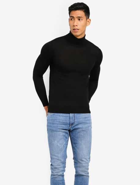 Sweater keren pria - Turtleneck Fit Body Sweater