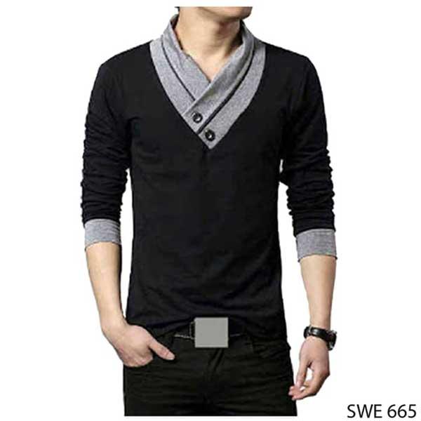 Sweater keren pria - Wrap V-neck Sweater