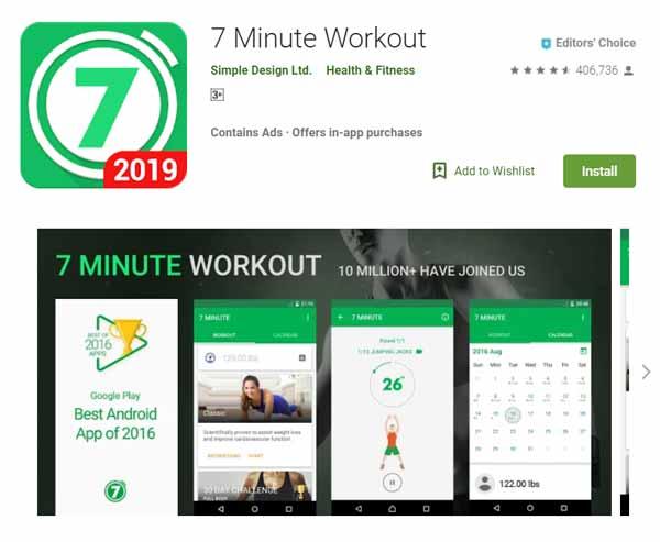 Rekomendasi Aplikasi Olahraga - 7 Minute Workout