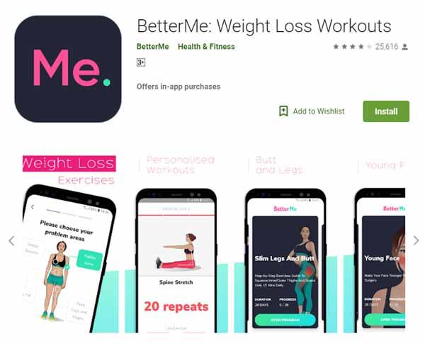 Rekomendasi Aplikasi Olahraga - BetterMe: Weight Loss Workouts