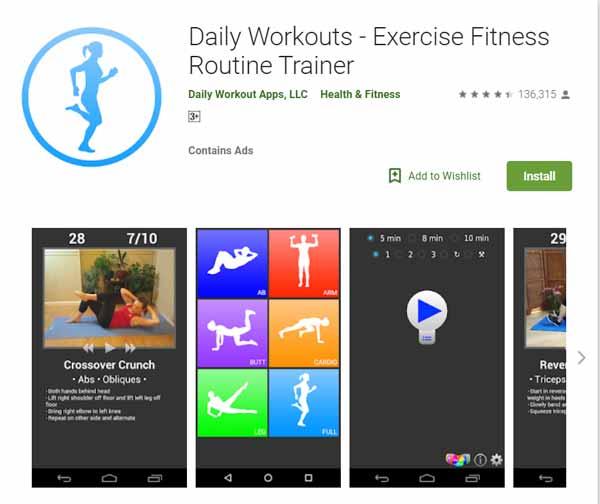 Rekomendasi Aplikasi Olahraga - Daily Workouts