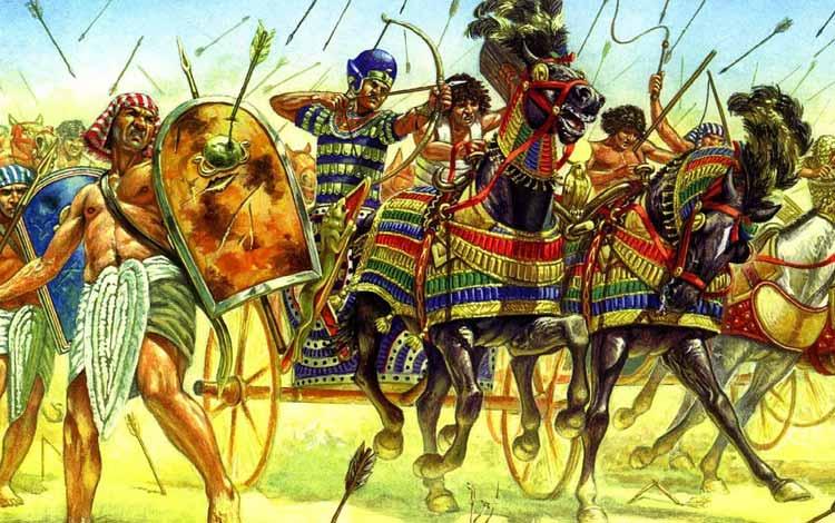 Pasukan Militer Kerajaan Di Dunia Pada Zaman Dulu - Egyptian War Chariot
