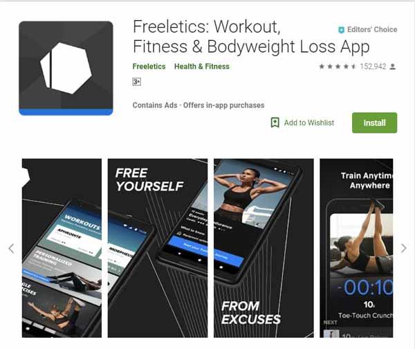 Rekomendasi Aplikasi Olahraga - Freeletics: Workout, Fitness and Bodyweight Loss App