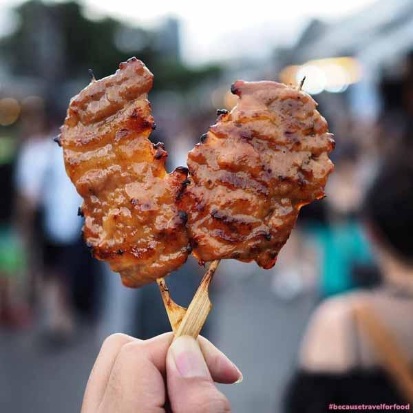 Deretan Makanan Thailand Yang Enak Dan Lezat - Grilled Pork Stick/Moo Ping