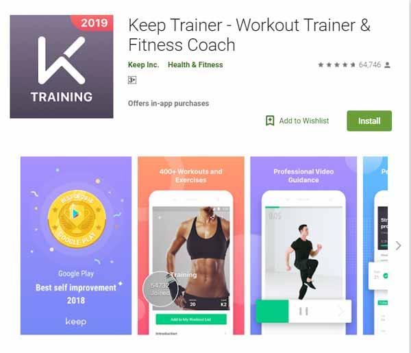 Rekomendasi Aplikasi Olahraga - Keep Trainer