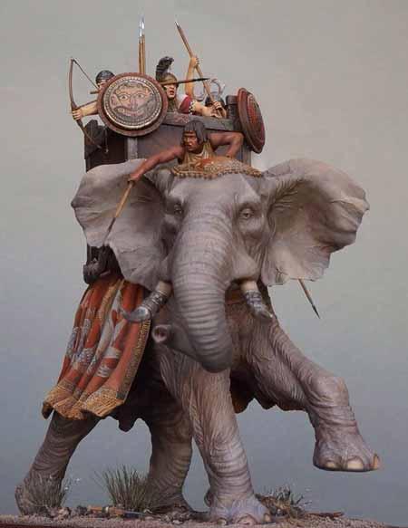 Pasukan Militer Kerajaan Di Dunia Pada Zaman Dulu - Persian war elephant