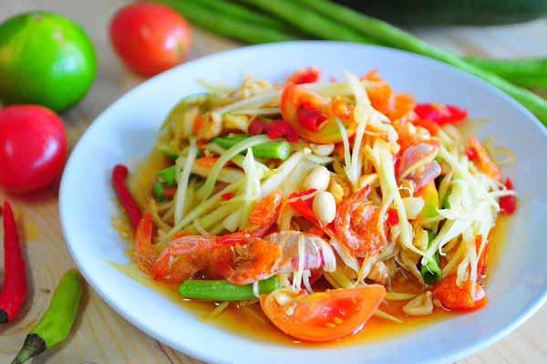 Deretan Makanan Thailand Yang Enak Dan Lezat - Som Tam/Sour Papaya Salad