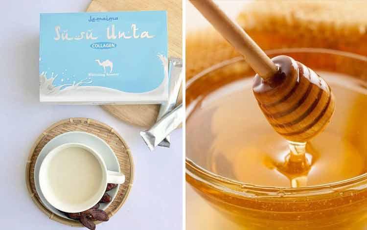 Makanan untuk meningkatkan vitalitas pria - susu unta dan madu