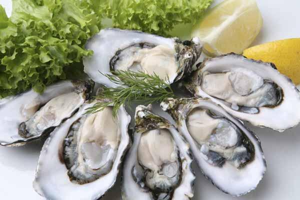 Makanan untuk meningkatkan vitalitas pria - tiram mentah