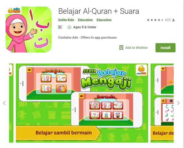 Deretan Aplikasi Untuk Belajar Mengaji Terbaik Dan Rekomended - Belajar Al-Quran + Suara