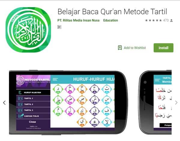 Deretan Aplikasi Untuk Belajar Mengaji Terbaik Dan Rekomended - Belajar Baca Qur'an Metode Tartil