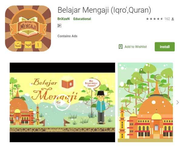 Deretan Aplikasi Untuk Belajar Mengaji Terbaik Dan Rekomended - Belajar Mengaji (Iqro',Quran)