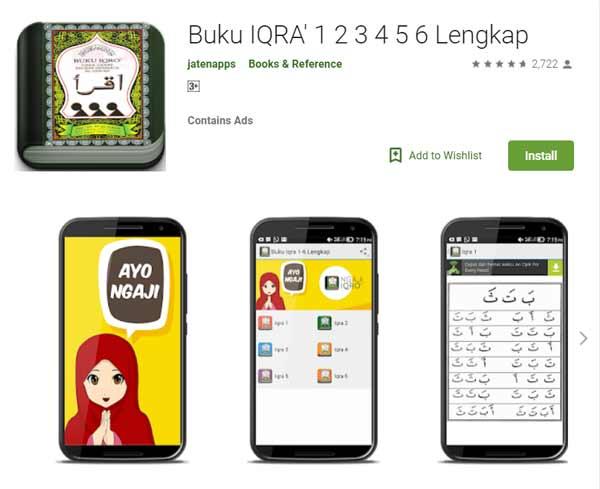 Deretan Aplikasi Untuk Belajar Mengaji Terbaik Dan Rekomended - Buku IQRA' 1 2 3 4 5 6 Lengkap