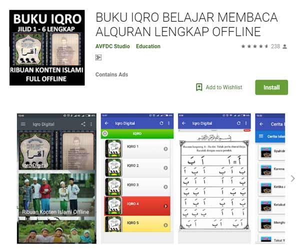 Deretan Aplikasi Untuk Belajar Mengaji Terbaik Dan Rekomended - Buku Iqro Belajar Membaca Alquran Lengkap Offline