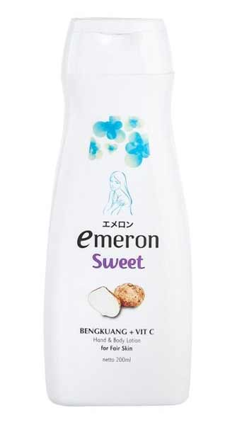 Body Lotion Pemutih Yang Bagus - Emeron Sweet Hand & Body Lotion Bengkuang