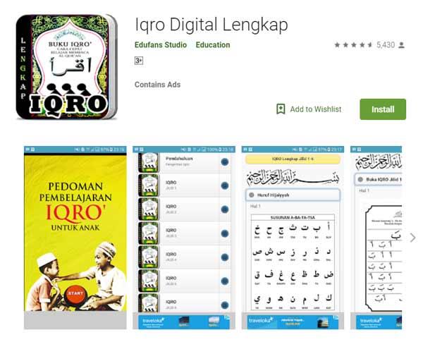 Deretan Aplikasi Untuk Belajar Mengaji Terbaik Dan Rekomended - Iqro Digital Lengkap