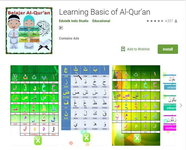 Deretan Aplikasi Untuk Belajar Mengaji Terbaik Dan Rekomended - Learning Basic of Al-Qur'an