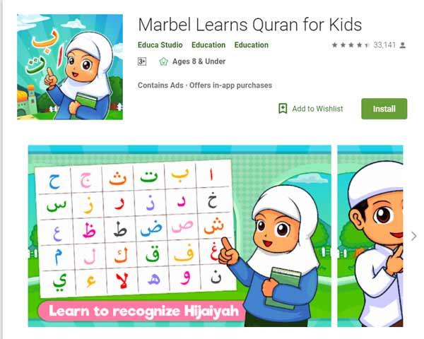Deretan Aplikasi Untuk Belajar Mengaji Terbaik Dan Rekomended - Marbel Learns Quran for Kids
