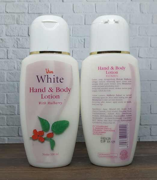 Body Lotion Pemutih Yang Bagus - Viva White Hand & Body Lotion with Mulberry