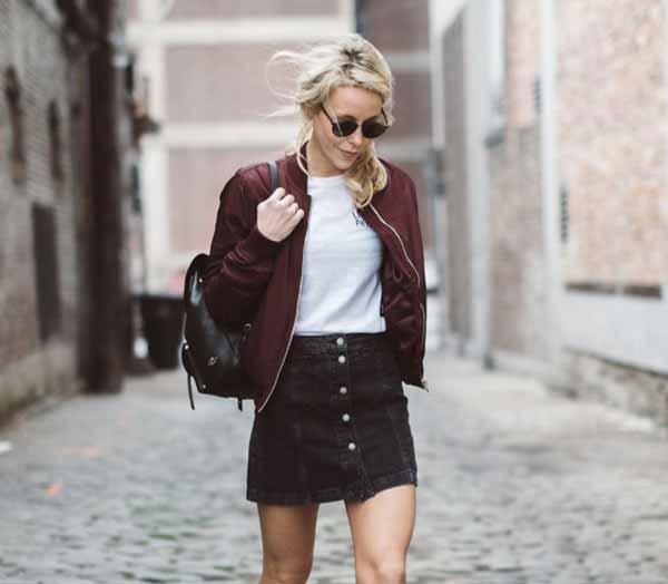 Aneka Model Jaket Wanita Yang Bakal Membuatmu Tampil Makin Gaya - Jaket bomber