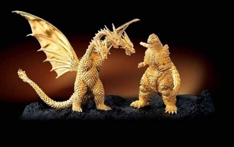 Daftar Mainan Termahal Di Dunia - Godzilla Emas