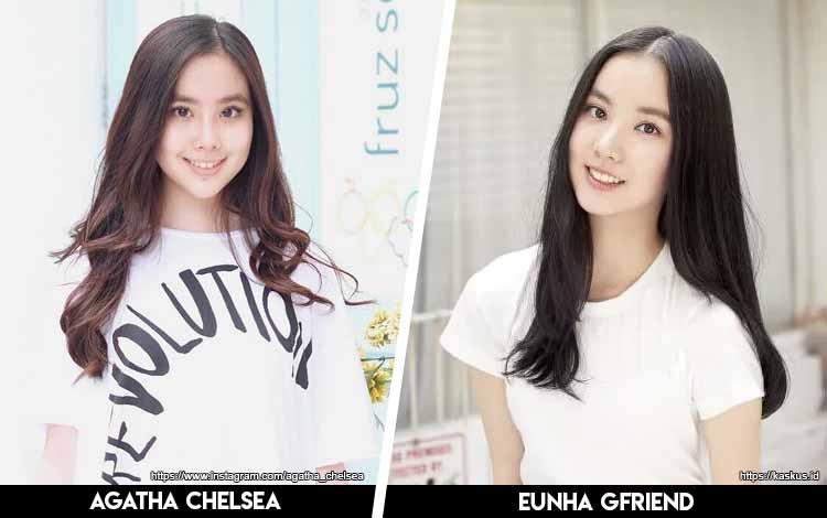 Deretan Artis Indonesia Yang Mirip Artis Korea - Agatha Chelsea x Eunha GFriend