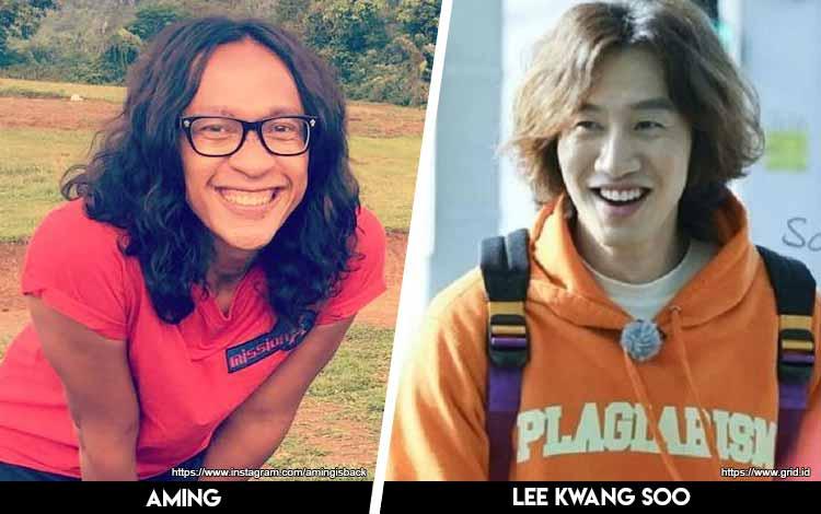 Deretan Artis Indonesia Yang Mirip Artis Korea - Aming x Lee Kwang Soo