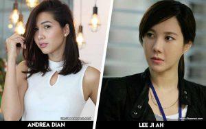 Deretan Artis Indonesia Yang Mirip Artis Korea - Andrea Dian x Lee Ji Ah