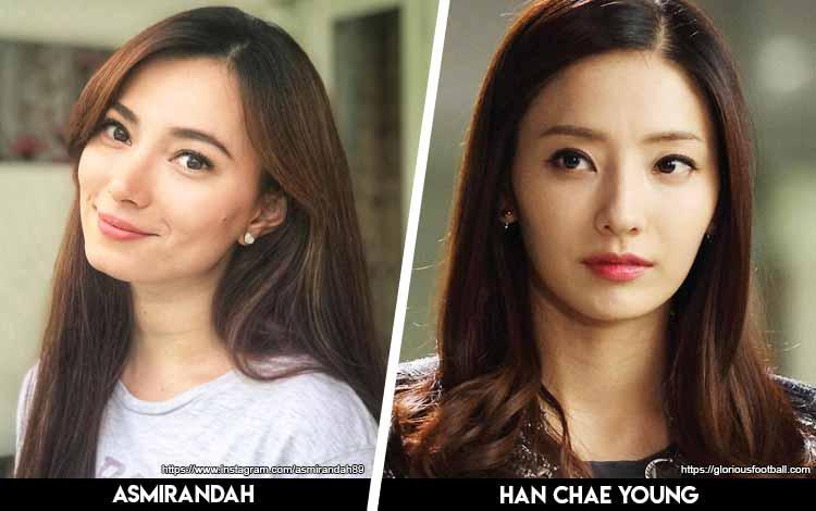 Deretan Artis Indonesia Yang Mirip Artis Korea - Asmirandah x Han Chae Young