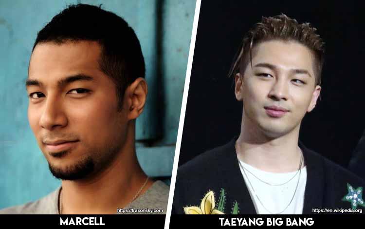 Deretan Artis Indonesia Yang Mirip Artis Korea - Marcell x Taeyang Big Bang