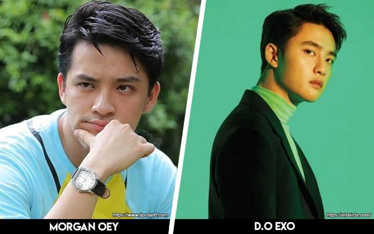 Deretan Artis Indonesia Yang Mirip Artis Korea - Morgan Oey x D.O EXO