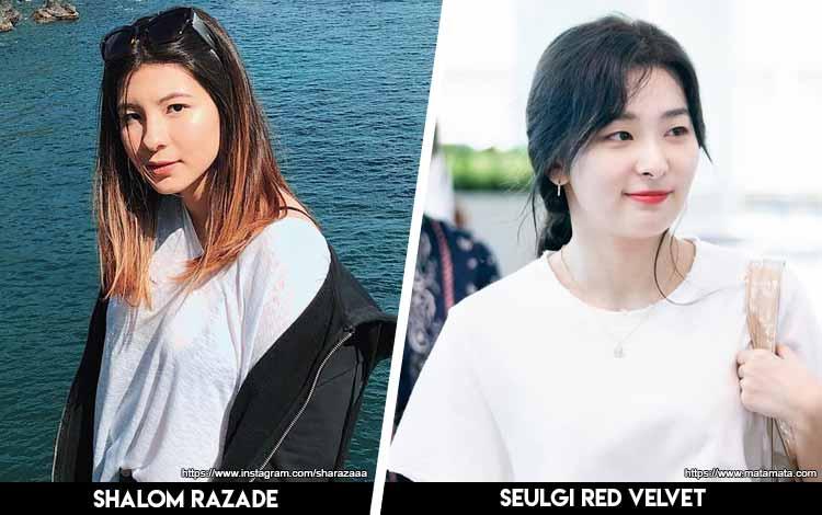 Deretan Artis Indonesia Yang Mirip Artis Korea - Shalom x Seulgi Red Velvet