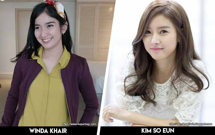 Deretan Artis Indonesia Yang Mirip Artis Korea - Winda Khair x Kim So Eun