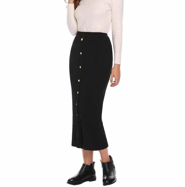 inspirasi hijab bagi pemula - pencil skirt