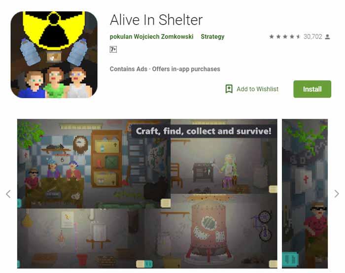 Game offline Terbaru 2019 - Alive in Shelter