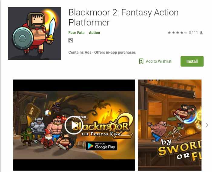 Game offline Terbaru 2019 - Blackmoor 2 Fantasy Action Platformer