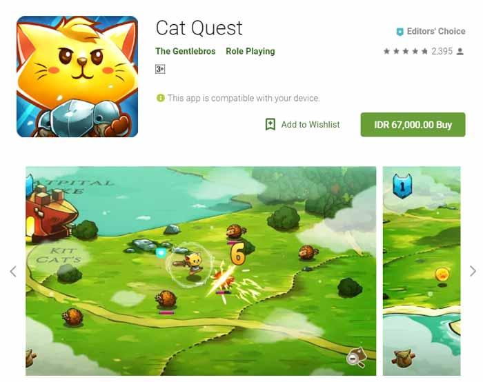 Game offline Terbaru 2019 - Cat Quest
