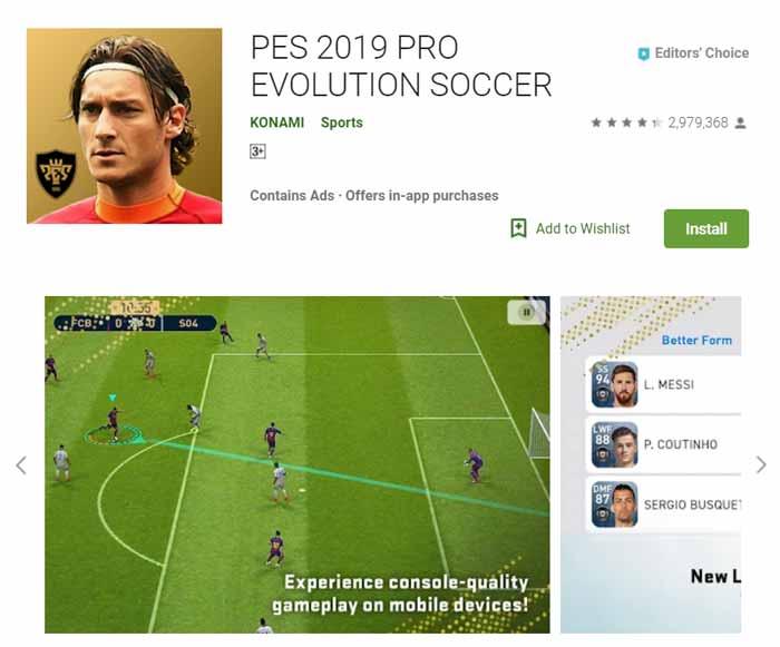 Game offline Terbaru 2019 - PES 2019 Pro Evolution Soccer