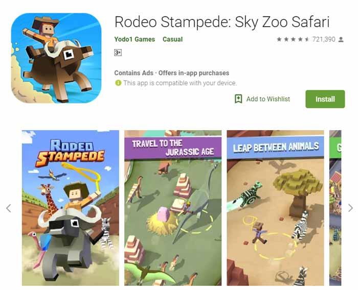 Game offline Terbaru 2019 - Rodeo Stampede Sky Zoo Safari