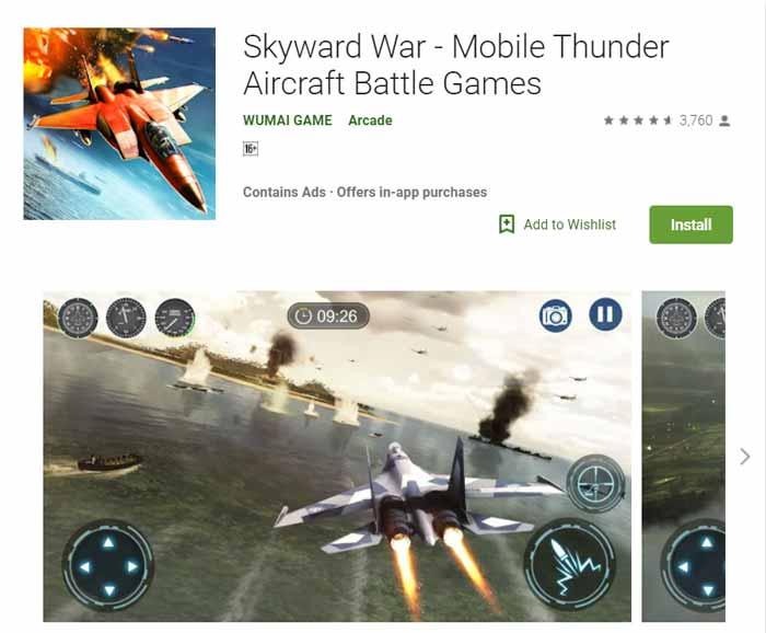 Game offline Terbaru 2019 - Skyward War-Mobile Thunder Aircraft Battle Games