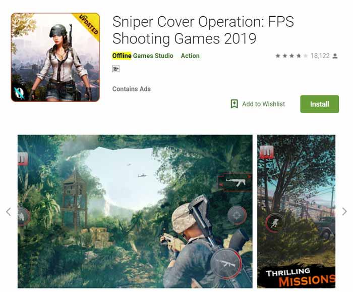 Game offline Terbaru 2019 - Sniper Cover Operation FPS Shooting Games 2019