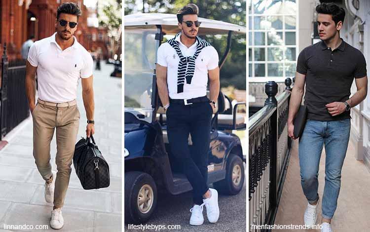 Inspirasi fashion pria terkini - Kaos polo dan celana panjang