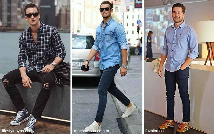 Inspirasi fashion pria terkini - Kemeja dan celana panjang
