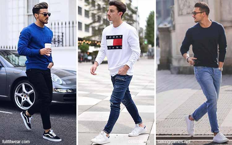Inspirasi fashion pria terkini - Sweatshirt dan celana panjang